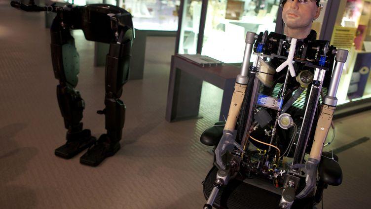 Rex, l'homme bionique exposé à partir de jeudi 7 février au Science Museum de Londres - photo du 5 février 2013 (ANDREW COWIE / AFP)