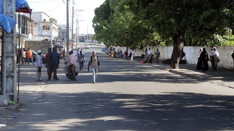 Une rue de Moroni (Comores), le 28 mars 2019. (YOUSSOUF IBRAHIM / AFP)