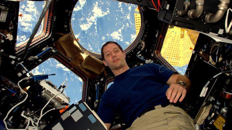 L'astronaute Thomas Pesquet dans sa Station spatiale internationale (ici le 22 novembre 2016).  (ESA/NASA / AFP)