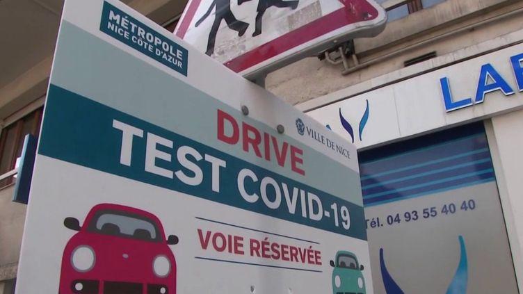 Coronavirus: un drive de dépistage disponible à Nice (FRANCE 3)