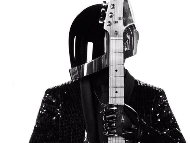 Costume de scène de Guy-Manuel dessiné par Hedi Slimane pour Daft Punk 2013.  (Saint Laurent Music Project / Daft Punk)