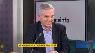 Alexandre Saubot,président de France Industrie. (FRANCEINFO)