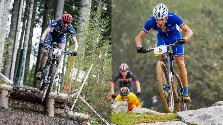 Jordan Sarrou (à gauche) et Victor Koretzky (à droite) sont des candidats déclarés à la médaille en VTT cross-country. (AFP)