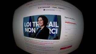 La page de la pétition contre le projet de réforme du droit du travail sur le site Change.org, photographiée le 1er mars 2016. (JOEL SAGET / AFP)