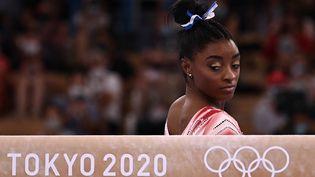 L'AméricaineSimone Biles a renoncé à plusieurs épreuves lors des Jeux olympiques de Tokyo. (LIONEL BONAVENTURE / AFP)