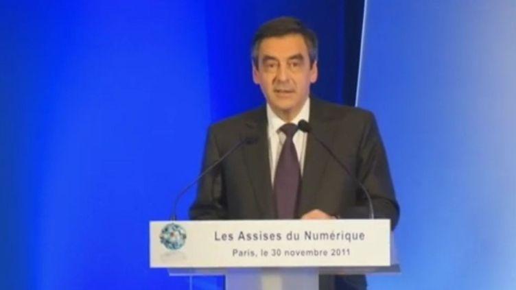 François Fillon aux Assises du numérique à Paris le 30 novembre 2011. (FRANCE 2)