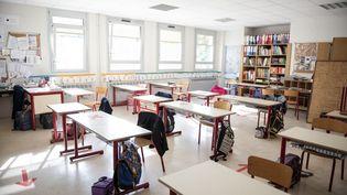 L'écoleprimaireJeanne d'Arc au Kremlin-Bicêtre (Val-de-Marne), le 25 mai 2020. (HAMID AZMOUN / HANS LUCAS / AFP)