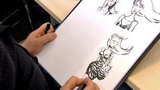 Le dessinateur lyonnaisGregdizer participe aux 24 heures de la BD  (France 3 / Culturebox)
