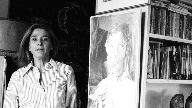 Portrait de l'avocate et militante Gisèle Halimi, née Zeiza Gisèle EliseTaïeb en Tunisie en 1927. Ici, dans sa maison en 1977. (MICHELE BRABO/LEEMAGE)
