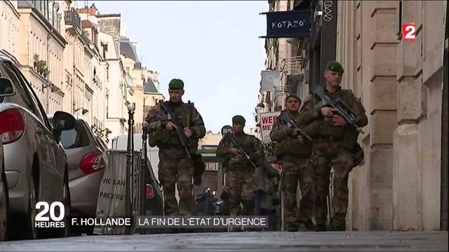 François Hollande annonce la fin de l'état d'urgence