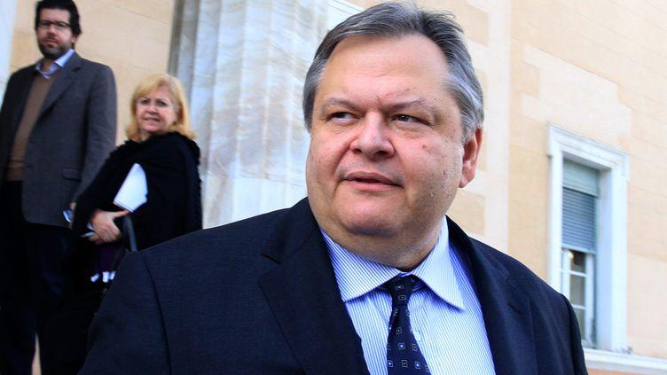 Le ministre des Finances grec Evangélos Vénizelos, devant le Parlement grec à Athènes, le 8 novembre 2011. (PANAYIOTIS TZAMAROS / REUTERS)