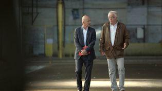 François Lenglet et Laurent Davezies. Thiers (Puy de dome), septembre 2015 ( FRANCE 2 / FRANCE TV INFO )