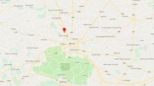 Un homme a tué sa compagne en la percutant avec sa voiture,dans la nuit du 3 au 4juillet 2019, à Thil (Marne). (GOOGLE MAPS)