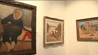 """Exposition """"L'Enfance dans la peinture bretonne"""" présentée au musée du Faouët dans le Morbihan jusqu'au 7 octobre 2008. 150 oeuvres.  (France 3)"""