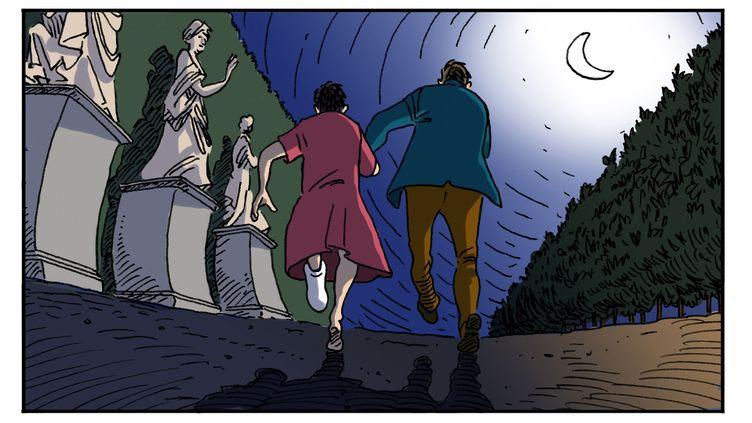 """""""Une course de nuit"""", illustration de Luc Desportes (LUC DESPORTES)"""