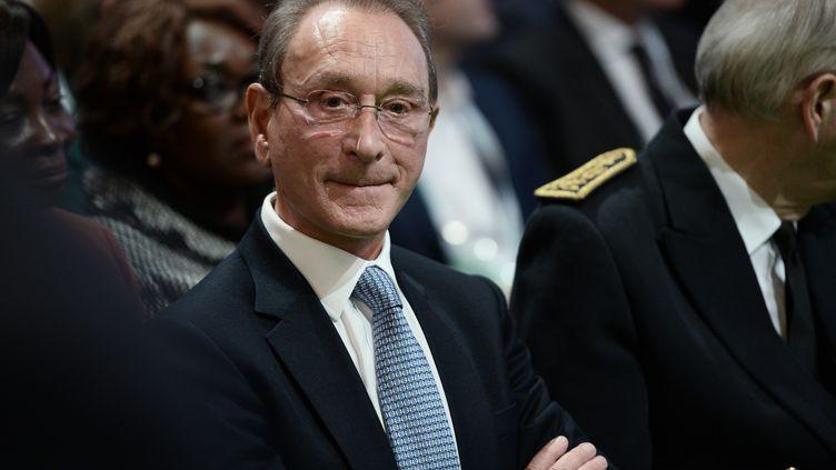 L'ancien maire socialiste de Paris, Bertrand Delanoé, assiste au sommet Cop 21 sur le climat, le 4 décembre 2015. (STEPHANE DE SAKUTIN / AFP)