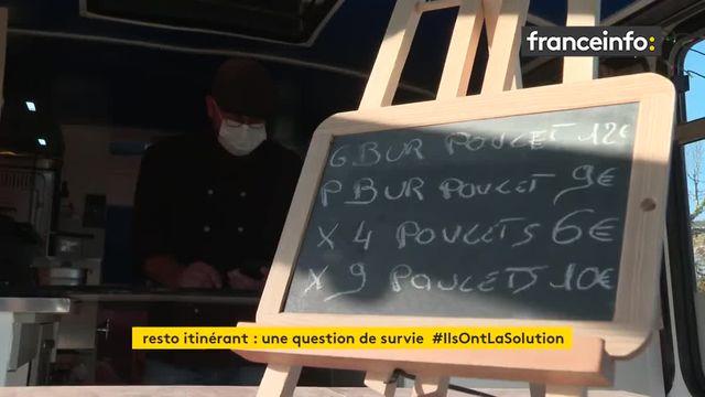 Dans les Deux-Sèvres un restaurant mobile se déplace et propose des plats à emporter aux clients