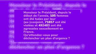 Capture d'écran du site 1femmesur2.fr alertant sur les violences faites aux femmes. (FRANCEINFO)