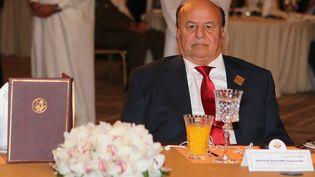 Le président yéménite, Abd Rabbo Mansour Hadi, lors d'un déplacement à Doha (Qatar), le 21 mai 2016. (KARIM JAAFAR / AFP)
