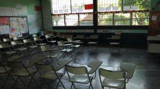 L'école de Chanmagua,à l'extrême sud du Guatemala a perdu environ 40% de ses élèves. Beaucoup ont pris la route pour les États-Unis. (FRANCE 2)