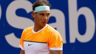 Le tennisman Rafael Nadal lors de sa victoire contre Nicolas Almagro, le 22 avril 2015, à Barcelone. (MIQUEL LLOP / CITIZENSIDE / AFP)