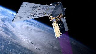 Le satellite ADM-Aeolus doit être lancé le 22 août 2018 à partir de la base de lancement de l'Agence spatiale européenne, située à Kourou, en Guyane (France). Les instruments à son bord devront aider à comprendre le climat de la Terre. (ESA/ATG medialab)