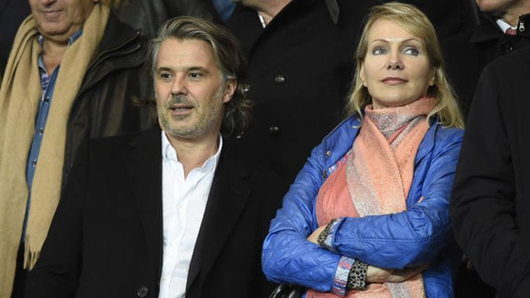 Le président de l'OM Vincent Labrune à côté de la propriétaire du club, Margarita Louis-Dreyfus