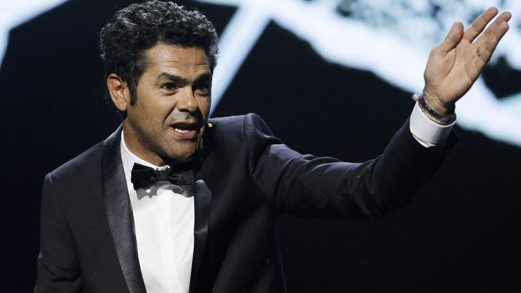 Jamel Debbouze durant la soirée des 30 ans de Canal +, le 31 octobre 2014 à Paris. (KENZO TRIBOUILLARD / AFP)