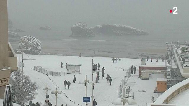 Neige : le Pays basque tout en blanc