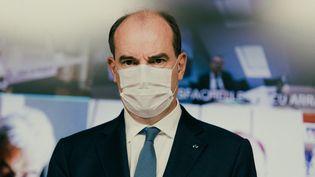 Le Premier ministre, Jean Castex, à Matignon, à Paris, le 17 mai 2021. (CHRISTOPHE MICHEL / HANS LUCAS / AFP)