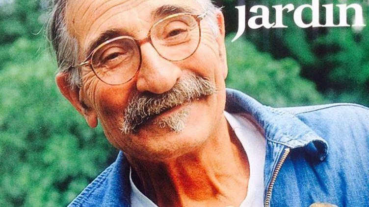 """Photo deRaymond Mondet, dit Nicolas Le Jardinier, sur la couverture de son livre """"Mon Jardin"""" publié en 1999 aux éditions Rustica (éditions Rustica)"""