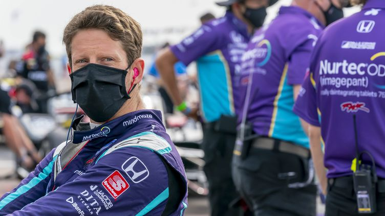 Romain Grosjean a signé son premier podium à Indianapolis en Indycar. (WALTER G ARCE SR GRINDSTONE MEDI / MAXPPP)