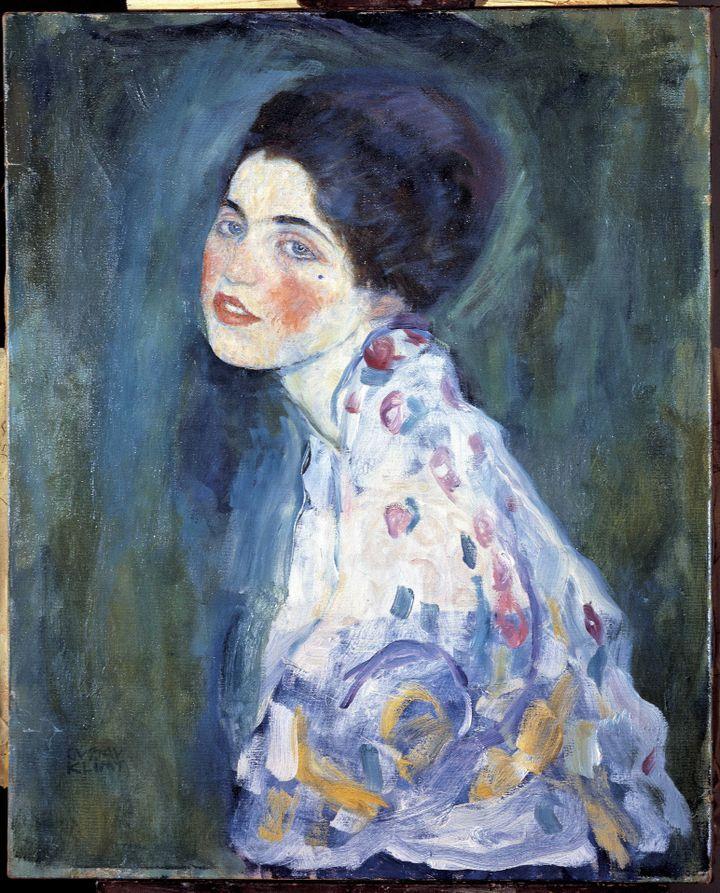 Portrait de femme. Peinture de Gustav Klimt (1862-1918). 1916. Galleria Ricci Oddi. Plaisance. (Electa/Leemage)