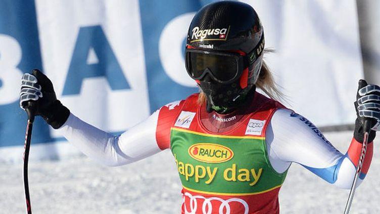 La Suissesse Lara Gut, heureuse