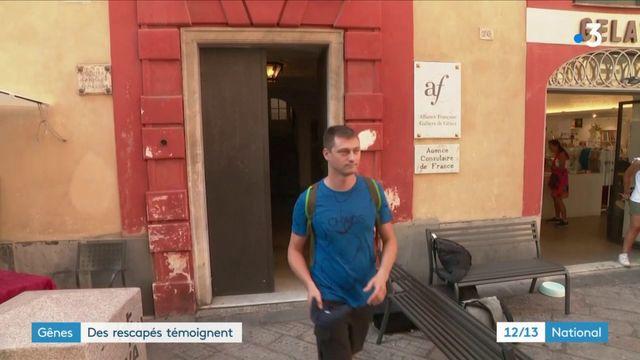 Gênes : une famille française de rescapés témoigne