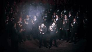 Les Chœurs de l'Armée rouge, lors de leur reprise du tube de Daft Punk.