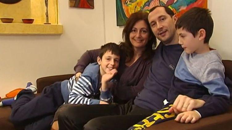 """La famille Coissard se trouvait à bord du ferry """"Norman Atlantic"""", le 28 décembre 2014, lors le navire a pris feu dans l'Adriatique. (FRANCE 2)"""