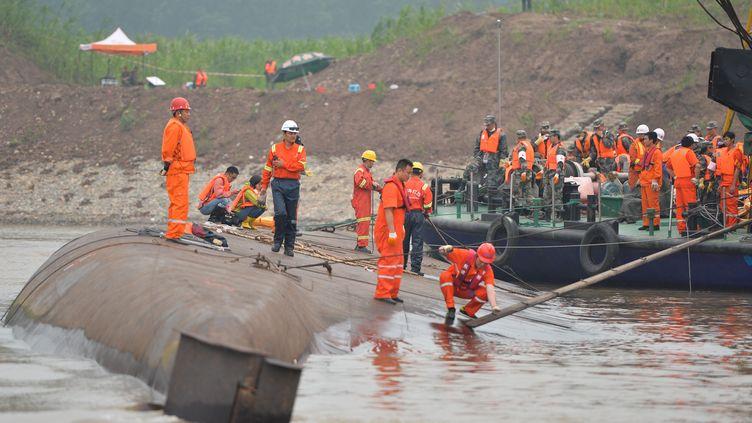 L'Etoile de l'Orient a chaviré, lundi 6 juin 2015,sur le Yangtsé, en Chine. (XINHUA / NOTIMEX)