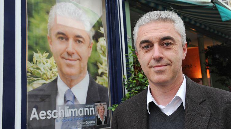 Manuel Aeschlimann, le maire d'Asnières-sur-Seine dans les Hauts-de-Seine. (MEHDI FEDOUACH / AFP)