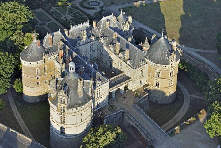 Le chateau de Lude, vu du ciel. (LOURDEL LIONEL / HEMIS.FR / HEMIS.FR)