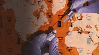 La vaccination est utilisée par certains pays comme outil de diplomatie. (GUILLAUME BONNEFONT / ALEXIS SCIARD / MAXPPP / STEPHANIE BERLU / RADIO FRANCE)