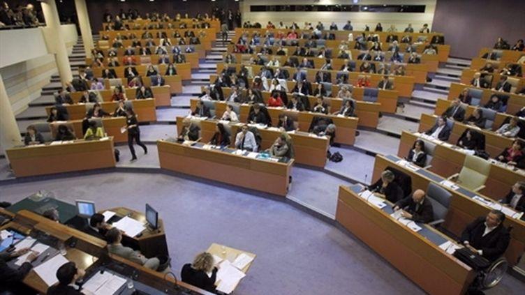 L'hémicycle du conseil régional d'Ile-de-France (archives, 26 mars 2010) (AFP / Patrick Kovarik)