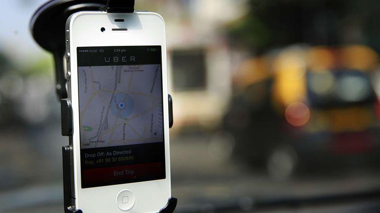 La start-up Uber a été valorisée à 17 milliards de dollars, le 6 juin 2014. (RAFIQ MAQBOOL / AP / SIPA)