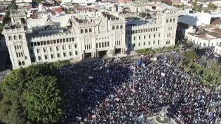 Manifestation au Guatemala (FRANCEINFO)