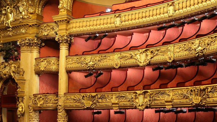 La salle de l'Opéra Garnier à Paris.  (LUDOVIC MARIN / AFP)
