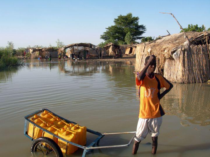 La vie s'organise selon les caprices de l'eau. (PATRICK FORT / AFP)