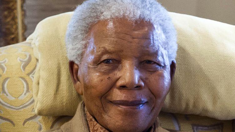 Nelson Mandela, le 17 juillet 2012 chez lui à Qunu (Afriquedu Sud). (BARBARA KINNEY / CLINTON FOUNDATION)