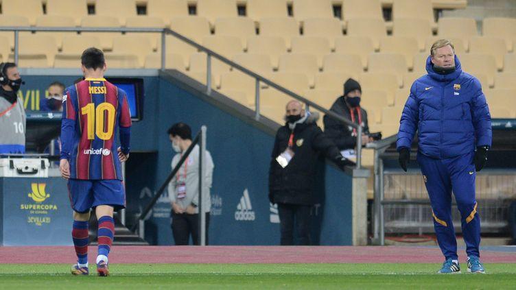 Lionel Messi expulsé contre l'Athletic Club (CRISTINA QUICLER / AFP)