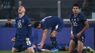 La joie des joueurs de Porto face à la Juventus Turin, le mardi 9 mars 2021. (MARCO BERTORELLO / AFP)