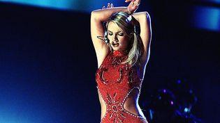 Britney Spears aux Grammy Awards en février 2000. (HECTOR MATA / AFP)